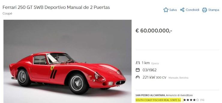 Ferrari 250 gto in vendita
