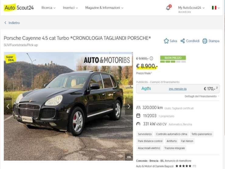 auto di lusso a prezzi outlet