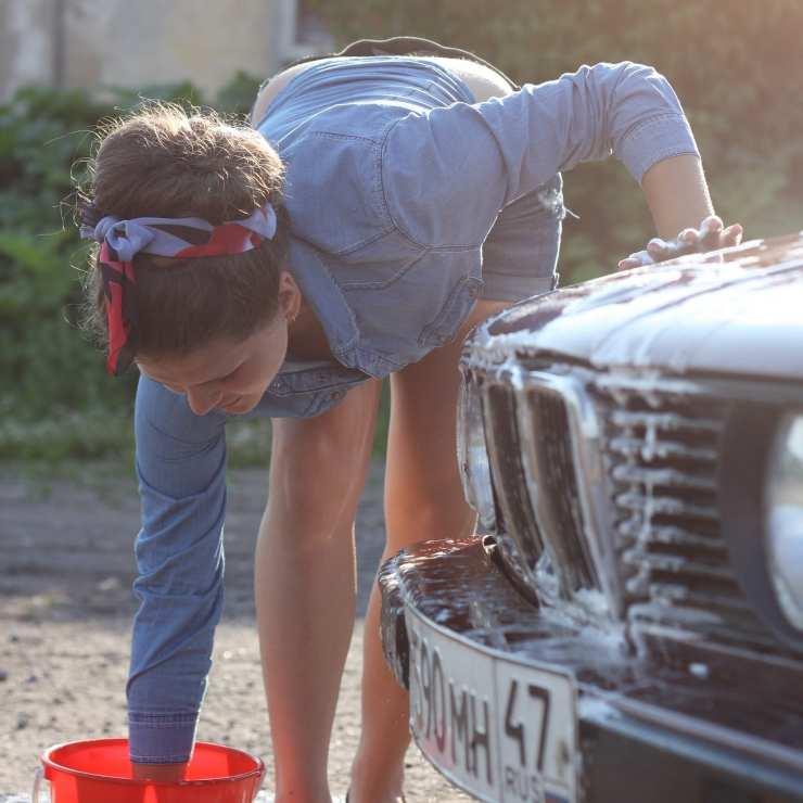sexy lavaggio auto