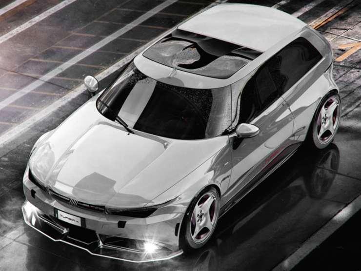 Fiat Uno Turbo MK3 Render
