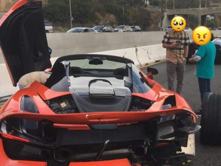 McLaren 720S incidente