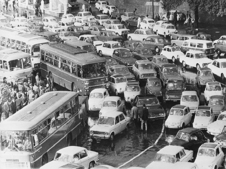 Traffico Italia anni '70