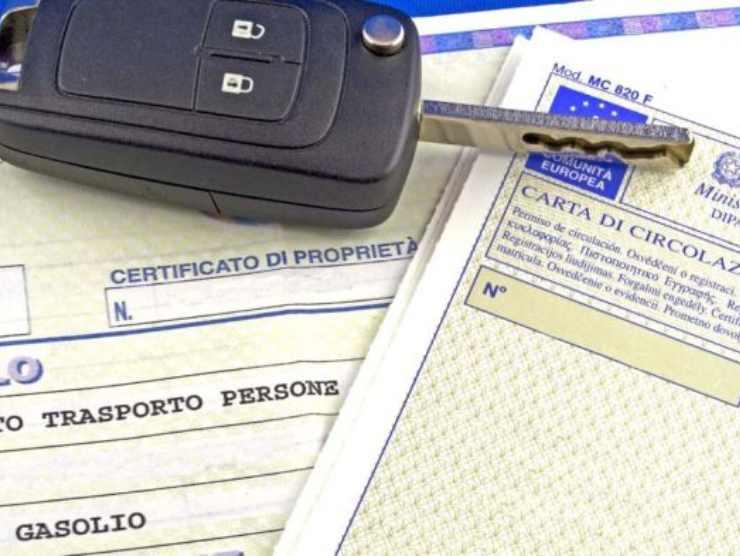 fermo amministrativo documenti