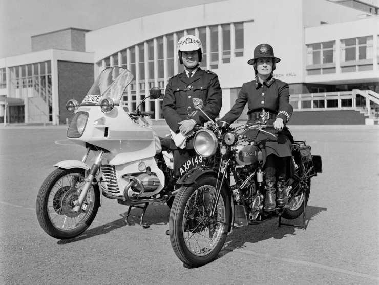Motocicletta BMW del 1979 e del 1940 (Getty Images)