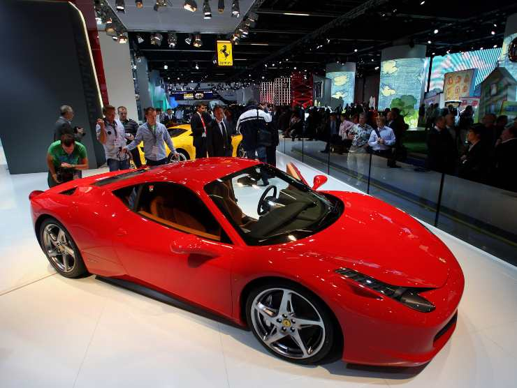 Ferrari 458 incidente