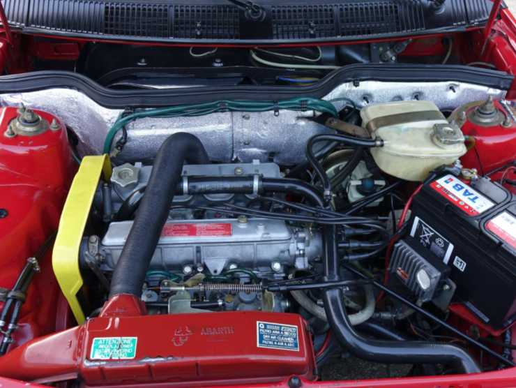Vano motore Fiat Ritmo 130TC Abarth (Classic-trader.com)