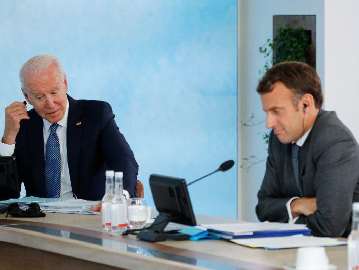 G7 Biden e Macron