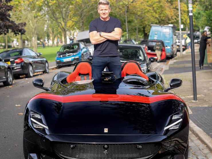 Grodon Ramsey sulla Ferrari Monza