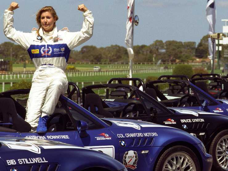 Catriona Rowntree a Merlbourne 2001 (Getty Images)