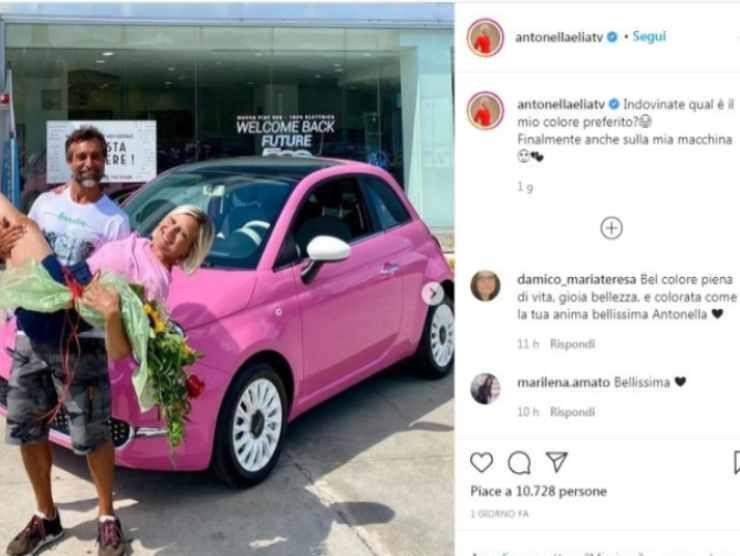 Antonella Elia post Instagram
