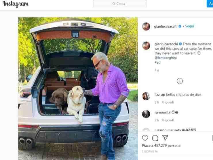 Gianluca Vacchi post Instagram