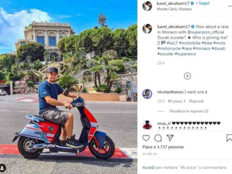Karel Abraham post Instagram