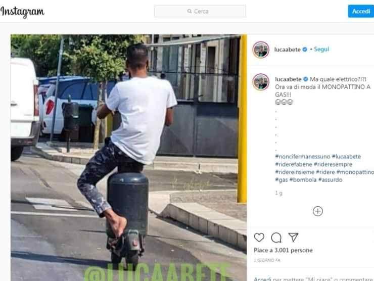 Luca Abete post Instagram