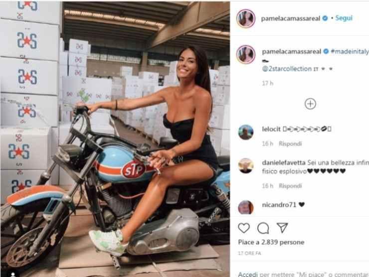 Pamela Camassa post Instagram