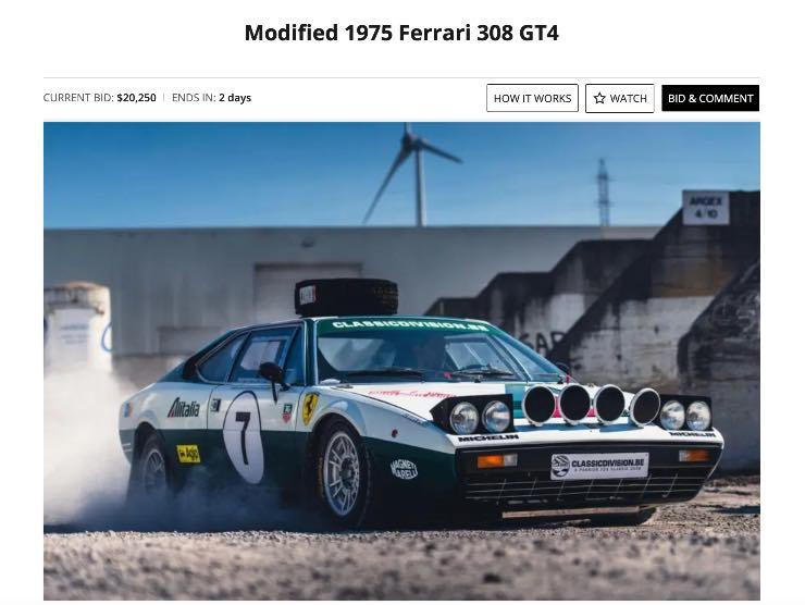 Ferrari in vendita su Bringatrailer