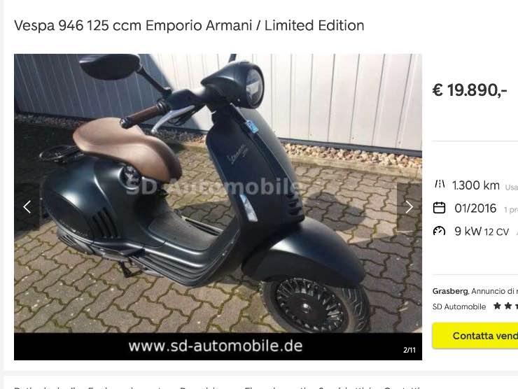 Vespa in vendita su autoscout24