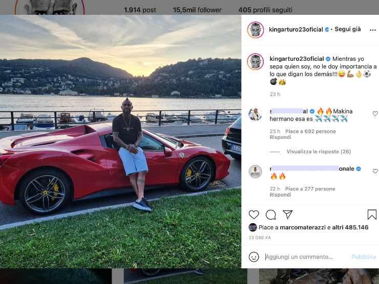 Arturo Vidal Instagram