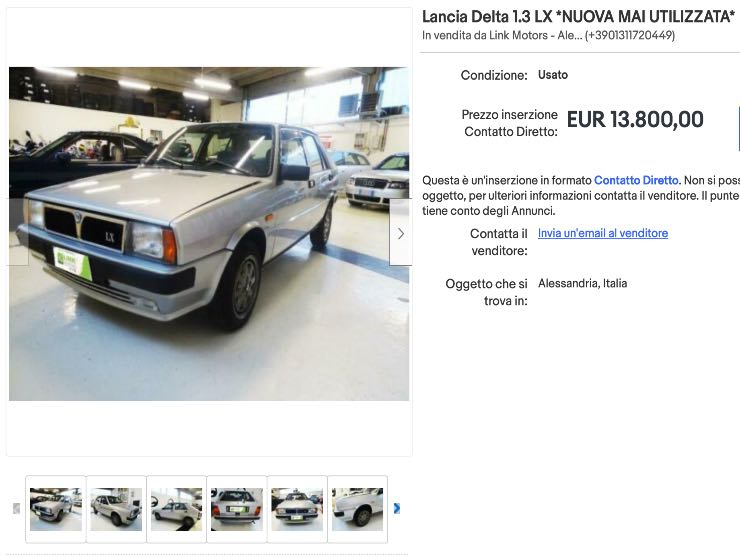 Lancia Delta in vendita su Ebay