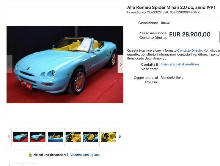 Annuncio eBay Alfa Spider