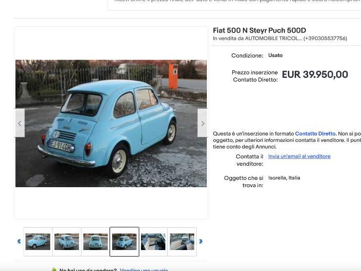 Annuncio Fiat 500 eBay