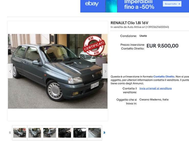 Annuncio Clio 16v eBay