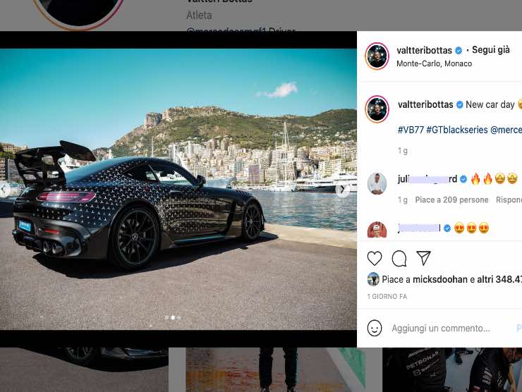 Valteri Bottas Instagram