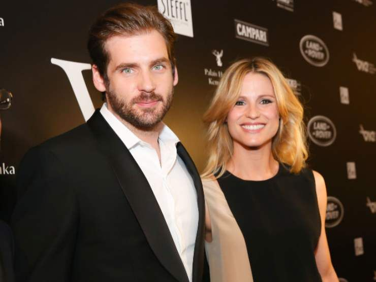 Tomaso Trussardi e Michelle Hunziker (Getty Images)