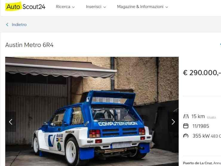Austin Metro 6R4 (AutoScout 24) annuncio