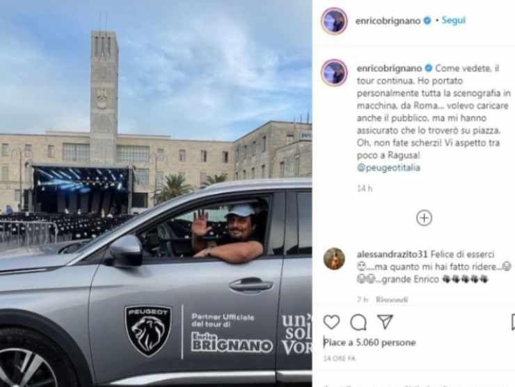 Enrico Brignano post Instagram