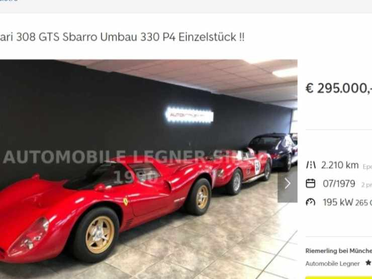 Ferrari 308 by Sbarro (AutoScout 24)