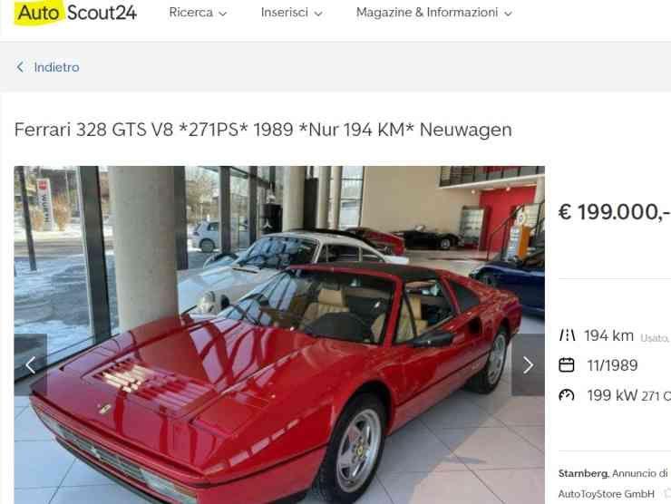 Ferrari 328 GTS (AutoScout 24) annuncio