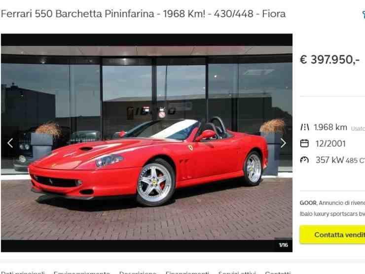 Ferrari 550 Barchetta (AutoScout 24) annuncio