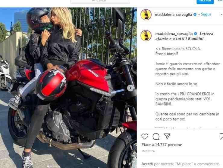 Maddalena Corvaglia post Instagram