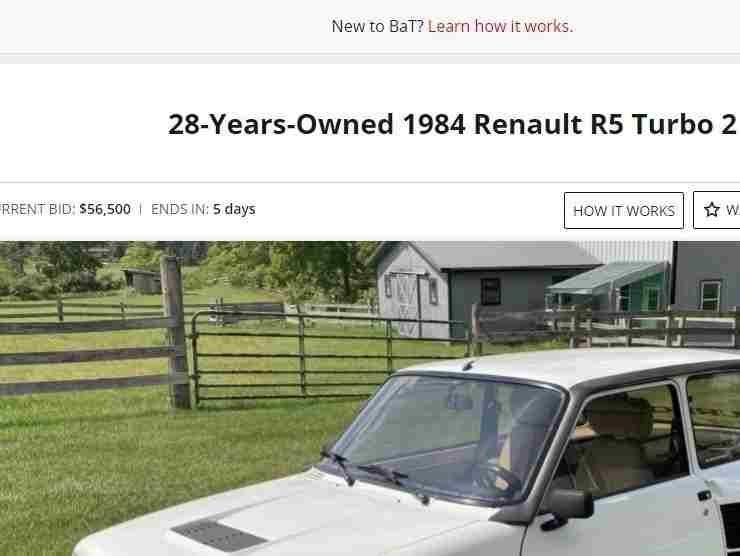 Renault R5 Turbo 2 annuncio