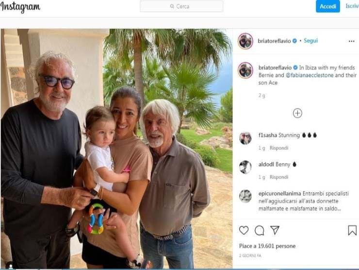 Briatore ed Ecclestone (Instagram)
