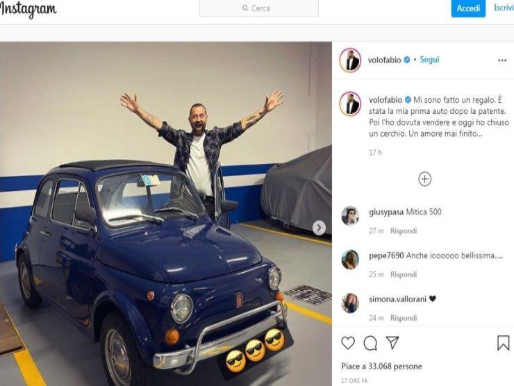 Il post Instagram di Fabio Volo