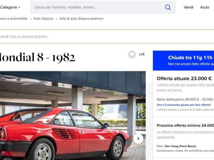 Ferrari Mondial 8 (Katawiki) annuncio