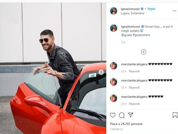 Il post Instagram di Ignazio Moser
