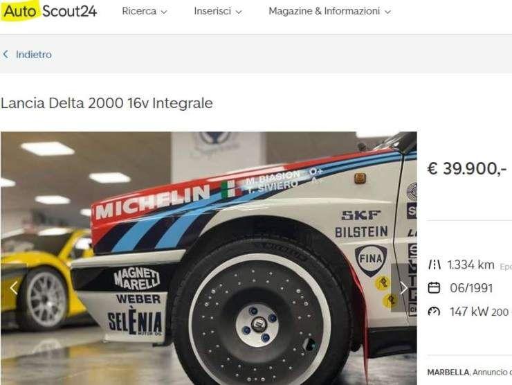 Lancia Delta 2000 16 V Integrale annuncio su AutoScout 24
