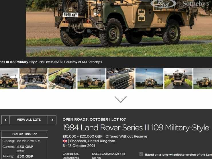 Land Rover Serie III Military (Rm Sotheby's)
