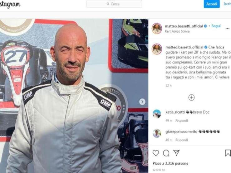 Matteo Bassetti kart (Instagram)