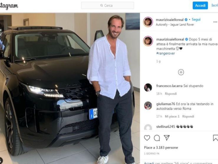 Maurizio Aiello post Instagram