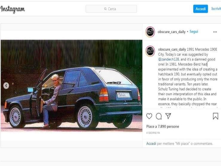 Mercedes 190E (Instagram) 4
