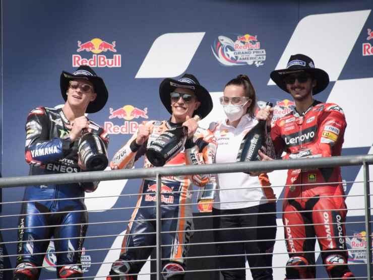 podio motogp austin
