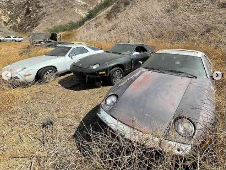 Porsche abbandonate (Instagram) 3