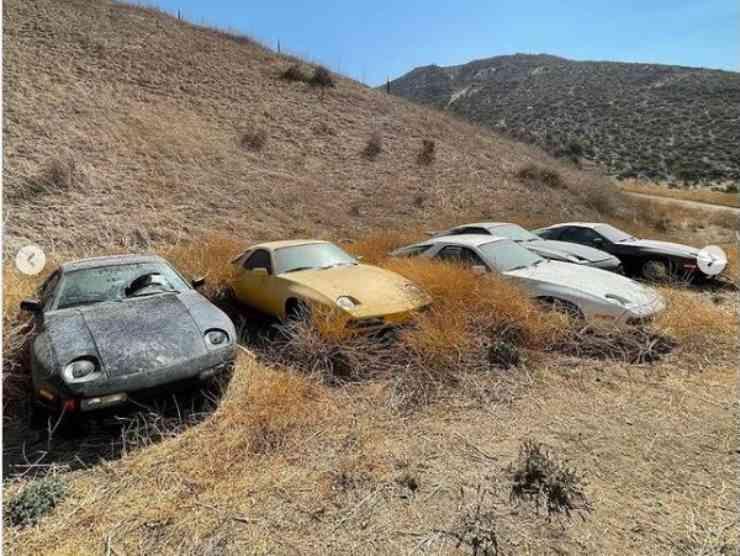 Porsche abbandonate (Instagram) 4