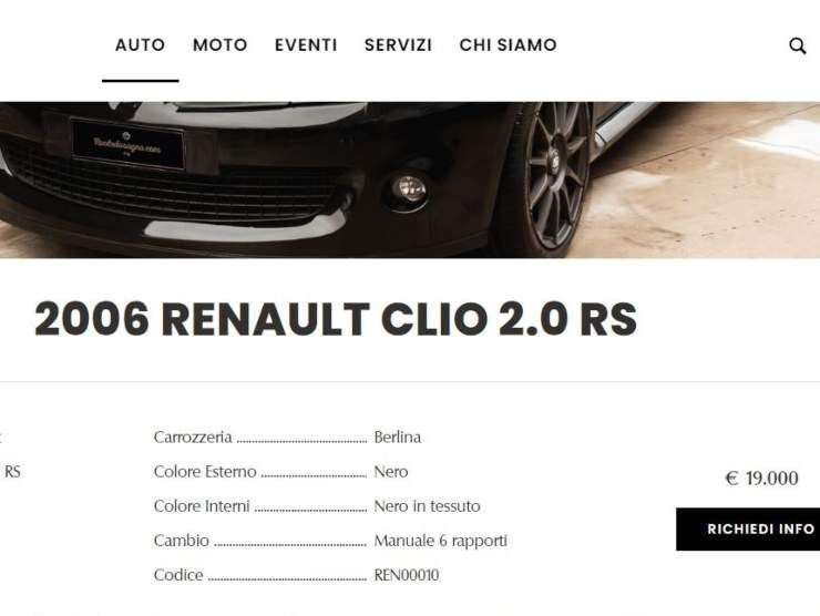 Renault Clio 2.0 RS (Ruote da Sogno) annuncio